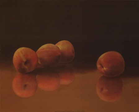 Peach Still Life by T.C. Chiu art print