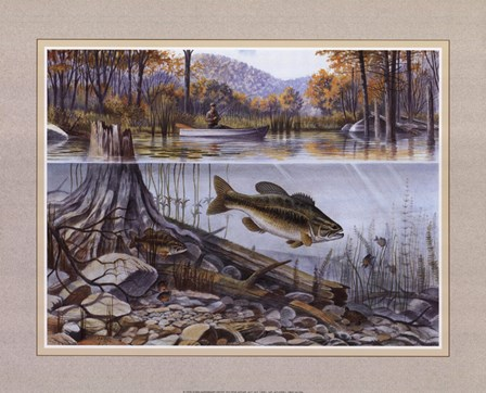 River Fishing by Ron Jenkins art print