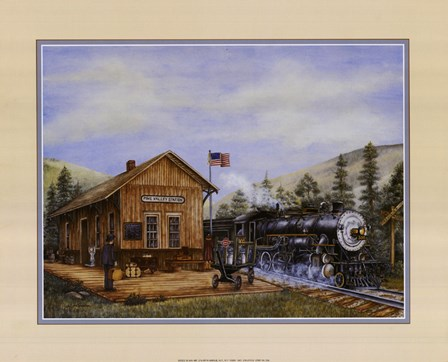 Pine Valley Station by Kay Lamb Shannon art print