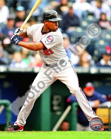 Delmon Young 2010 Action art print