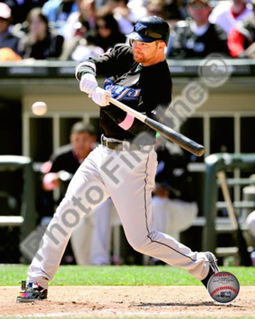 Adam Lind batting 2010 Action art print