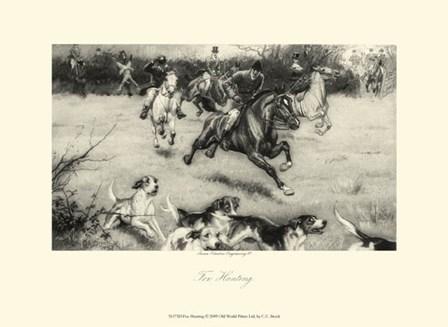 Fox Hunting by C.E. Brock art print
