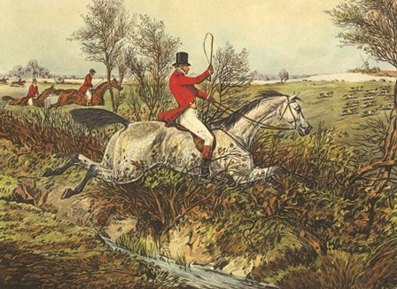 The English Hunt I by Henry Alken art print