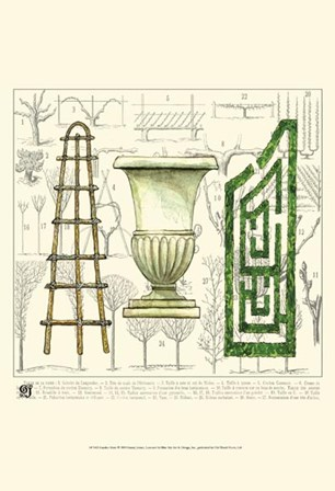 Garden Maze by Ginny Joyner art print