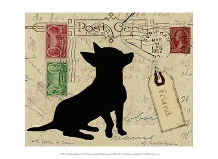 Chihuahua Silhouette by Nancy Shumaker art print