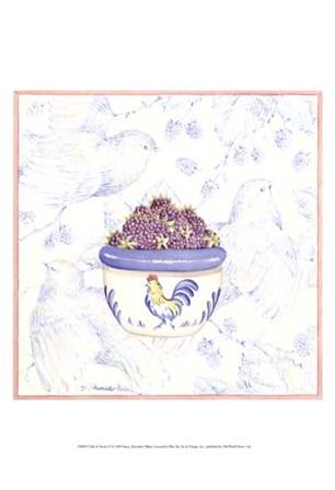 Toile & Berries II by Nancy Shumaker art print