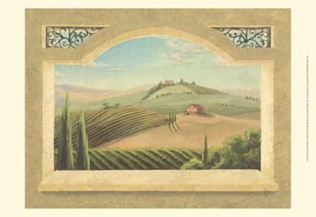 Vineyard Window III by Joelle McIntyre art print
