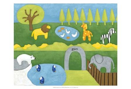 Storybook Zoo by Chariklia Zarris art print