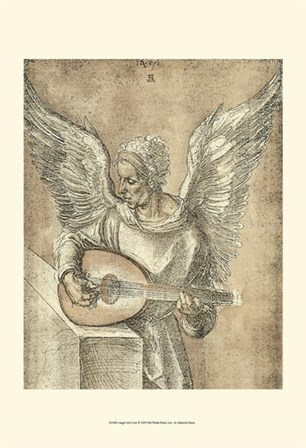 Angel with Lute by Albrecht Durer art print