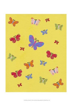 Busy Butterfly by Syeda Mleeha Shah art print