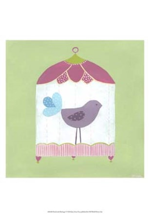 Patchwork Birdcage I by June Erica Vess art print