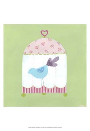 Patchwork Birdcage II by June Erica Vess art print