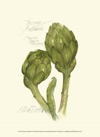 Tuscany Artichoke by Elissa Della-Piana art print