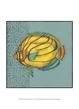 Small Tropical Fantasy IV by Jennifer Goldberger art print