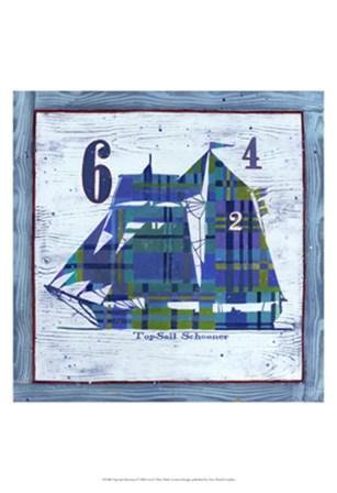 Top Sail Schooner by Geoff Allen art print