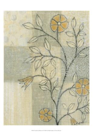Neutral Linen Blossoms I by Norman Wyatt Jr. art print