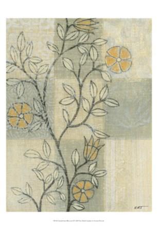 Neutral Linen Blossoms II by Norman Wyatt Jr. art print