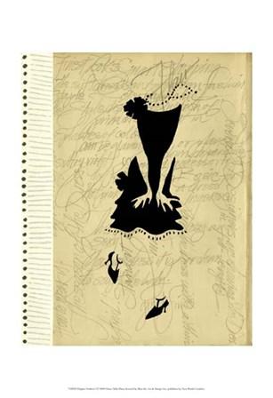 Flapper Fashion I by Elissa Della-Piana art print