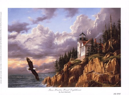 Bass Harbor Head Lighthouse by Rudi Reichardt art print
