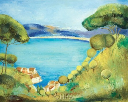 Colors of Saint Tropez by Margo Balcerek art print