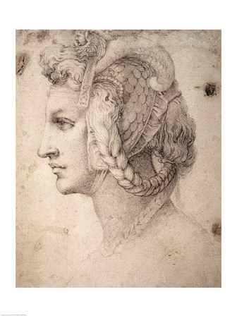 Study of Head by Michelangelo Buonarroti