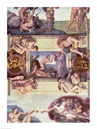 Sistine Chapel Ceiling (1508-12): The Creation of Eve, 1510