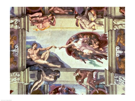 Sistine Chapel Ceiling: Creation of Adam, 1510