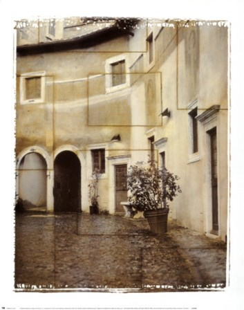 Italian Courtyard 2 by Pezhman art print