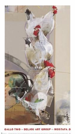 Gallo Two by Mostafa art print