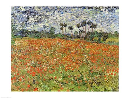 Field of Poppies by Vincent Van Gogh art print