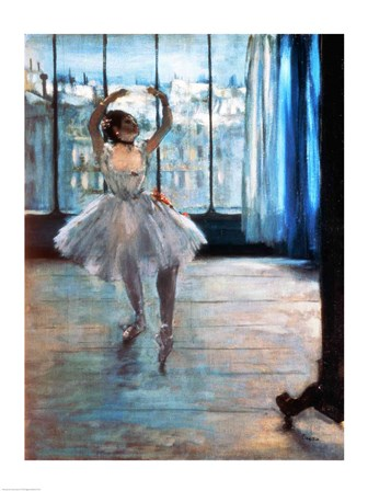 Dancer in Front of a Window by Edgar Degas art print