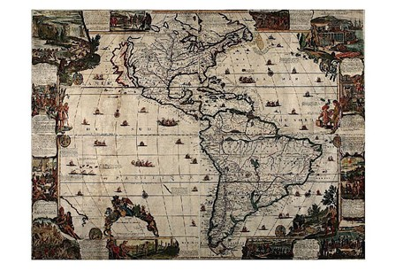 North and South America art print