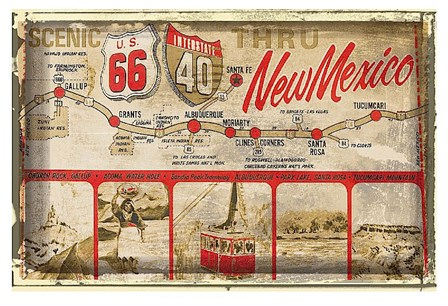 Scenic US 66 thru New Mexico art print