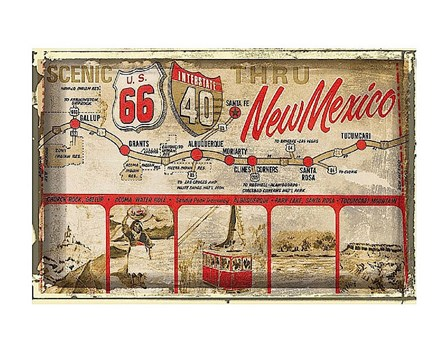 Scenic US 66 thru New Mexico art print