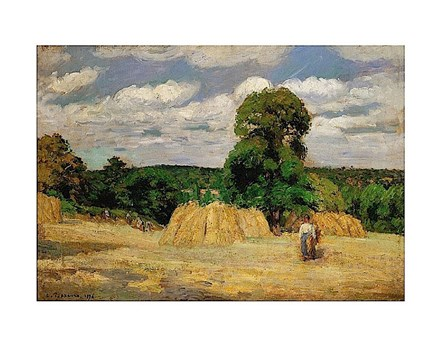 The Harvest, 1876 by Camille Pissarro art print