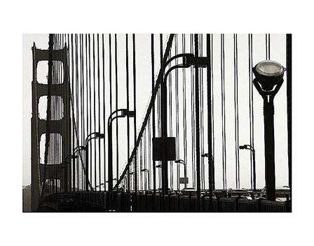 Golden Gate Bridge in Silhouette by Christian Peacock art print