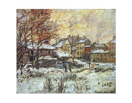 Snow Effect, Sunset by Claude Monet art print