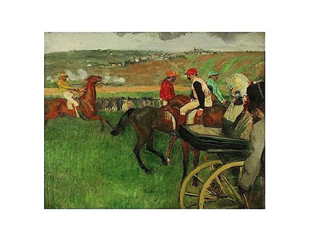 The Race Course: Amateur Jockeys near a Carriage, 1876-1887 by Edgar Degas art print
