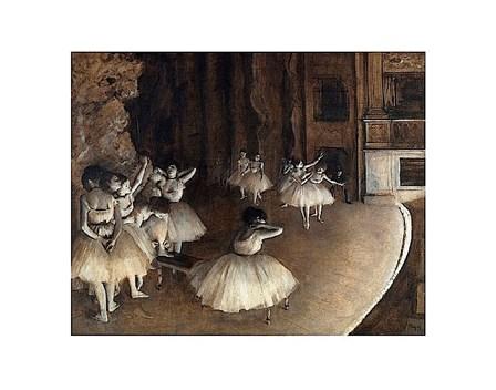 Dance Rehearsal, 1874 by Edgar Degas art print