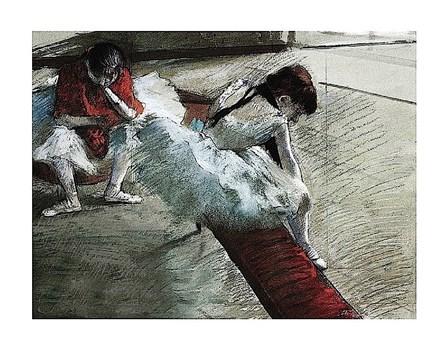 Gallery Player by Edgar Degas art print