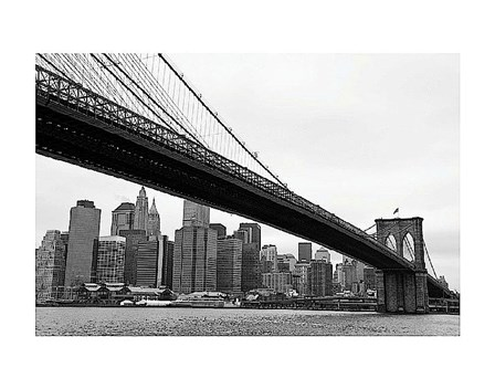 Manhattan from Brooklyn (b/w) by Erin Clark art print