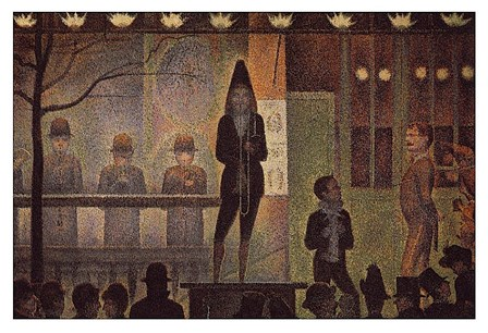 Circus Sideshow by Georges Seurat art print