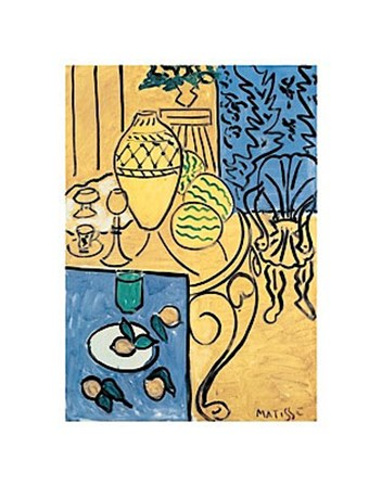 Interior in Yellow and Blue, 1946 by Henri Matisse art print