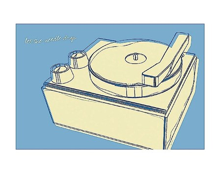 Lunastrella Record Player by John W. Golden art print