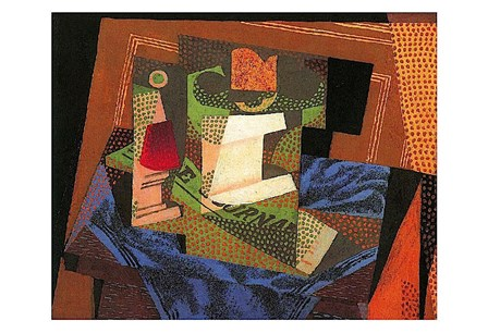 Fruit Bowl on a Tablecloth by Juan Gris art print