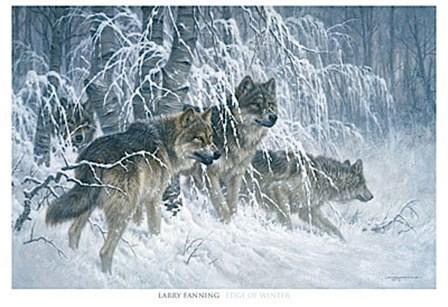 Edge of Winter (detail) by Larry Fanning art print