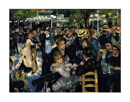 Le Moulin de la Galette 1876 by Pierre-Auguste Renoir art print