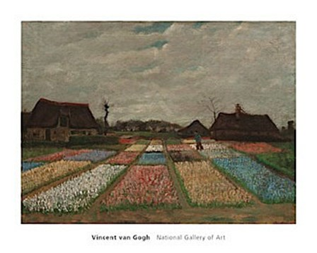 Flower Beds in Holland, c. 1883 by Vincent Van Gogh art print