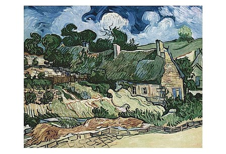 Shelters in Cordeville by Vincent Van Gogh art print