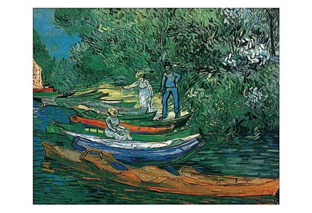 Bank of the Oise at Auvers, 1890 by Vincent Van Gogh art print
